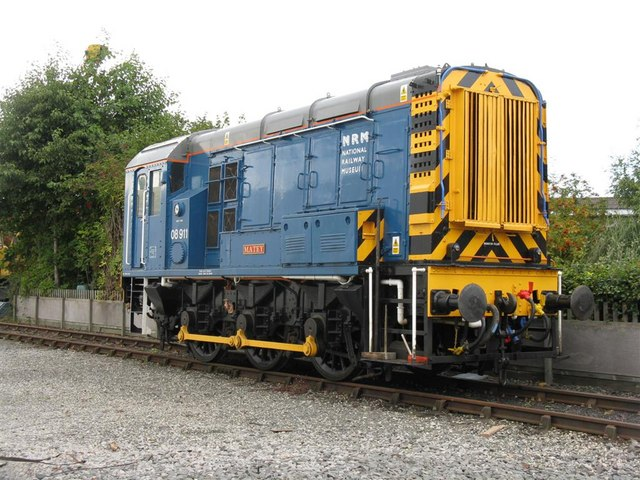 Diesel shunter at the National Railway Museum