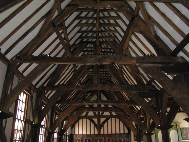 The roof  of the Merchant Adventurers' Great Hall