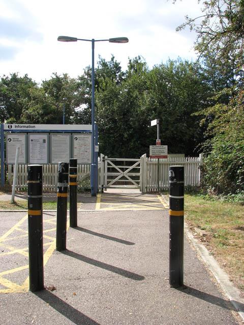 Somerleyton railway station - the entrance