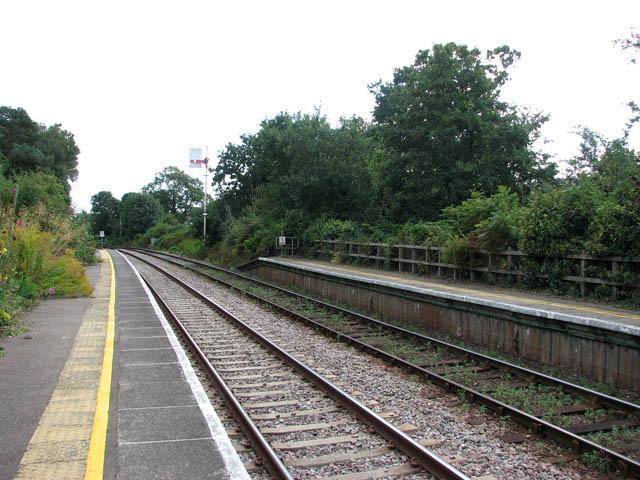 Somerleyton railway station -  this way to Lowestoft