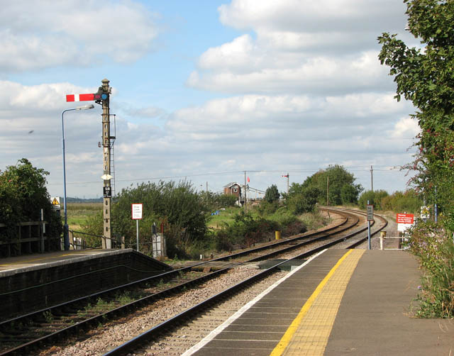 Somerleyton railway station -  this way to Norwich