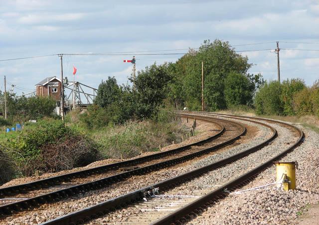 Somerleyton railway station - approaching the swing bridge