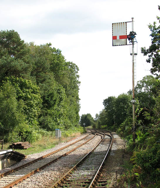 View along the railway line east of Somerleyton station