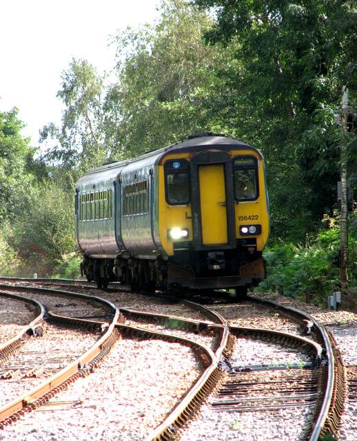 Unit 156422 approaching Somerleyton station