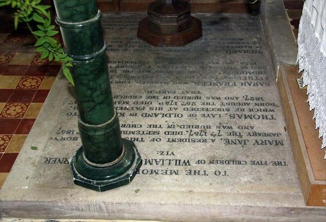 St Margaret, Ditchling, Sussex - Ledger slab