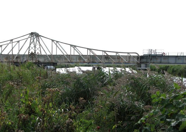 Somerleyton swing bridge - open to rail traffic
