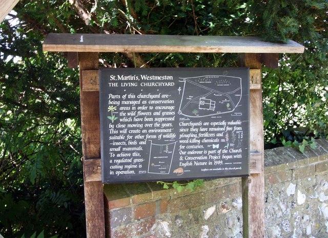 St Martin, Westmeston, Sussex - Notice board