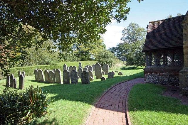 St Martin, Westmeston, Sussex - Churchyard
