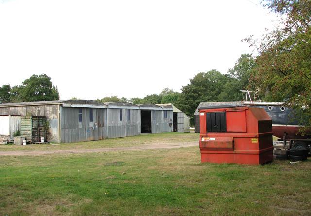 Sheds at Somerleyton Marina