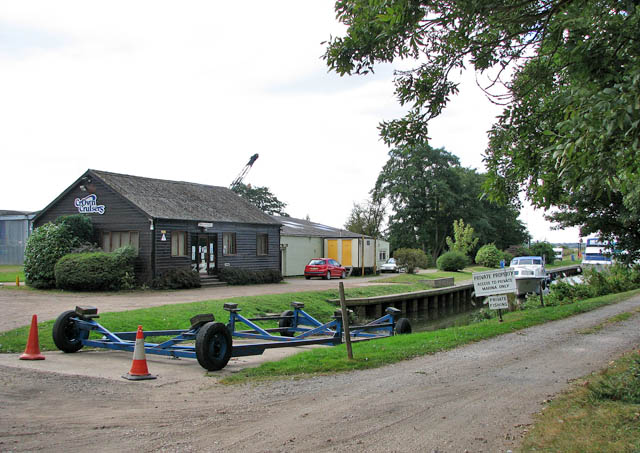 Boatyard by the River Waveney