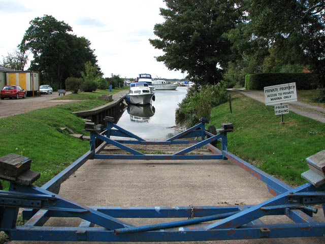 Slipway at Somerleyton Marina