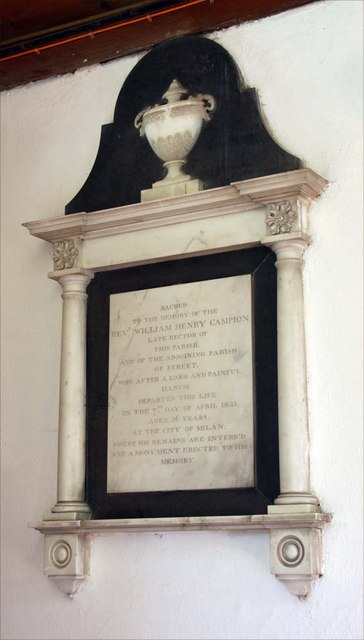St Martin, Westmeston, Sussex - Wall monument