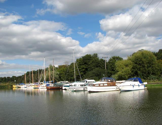 Boats at Somerleyton Marina