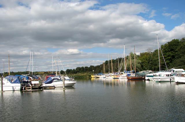 Moored at Somerleyton Marina