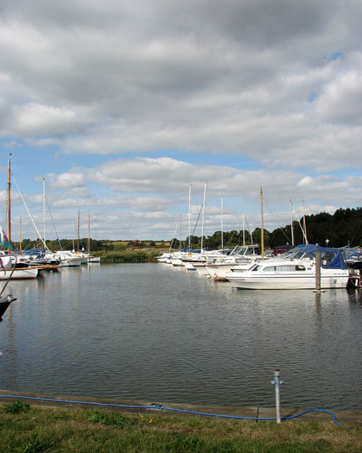 View across Somerleyton Marina