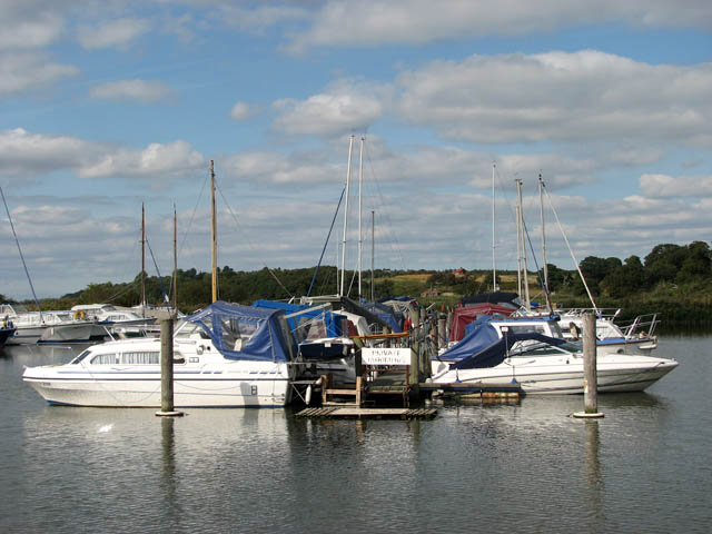 Boats at Somerleyton Marina