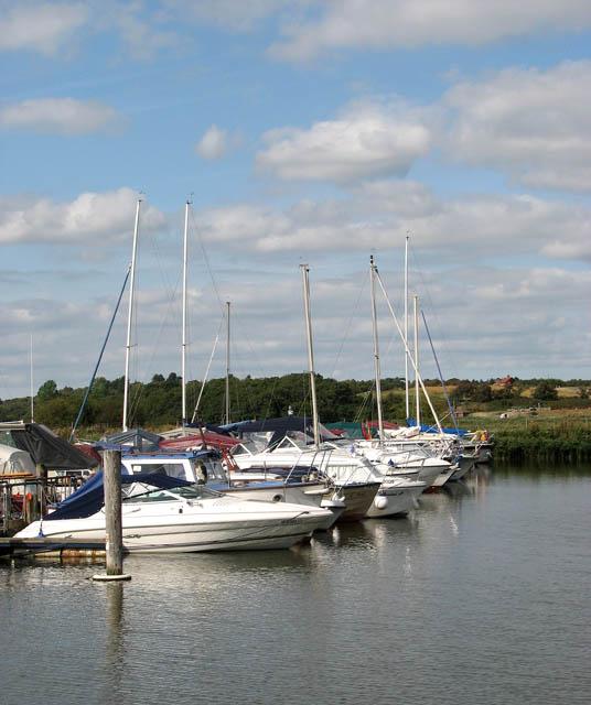 Moored at Somerleyton Marina