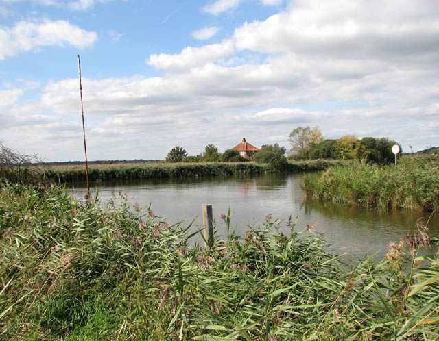 View towards Ferry House on the other side of the River Waveney