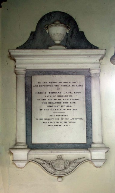 Streat Parish Church, Sussex - Wall monument