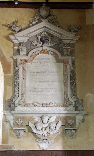 Streat Parish Church, Sussex - Wall monument