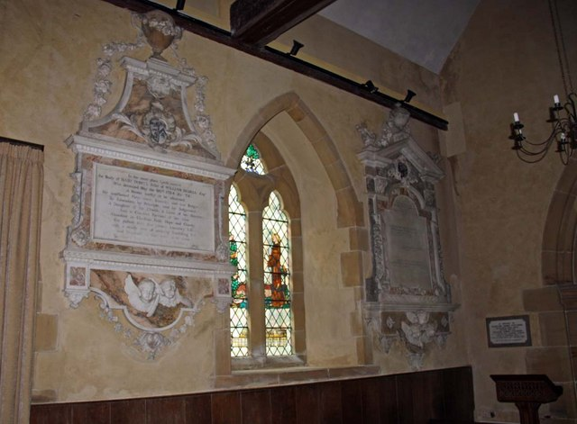 Streat Parish Church, Sussex - Wall monuments
