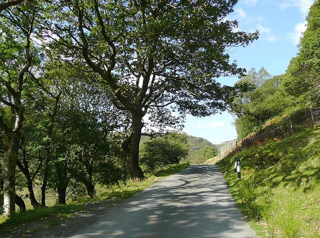 The Irfon Valley road near Abergwesyn, Powys