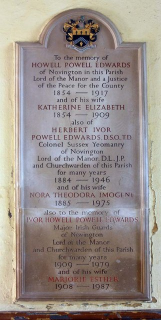 East Chiltington Parish Church, Sussex - Memorial