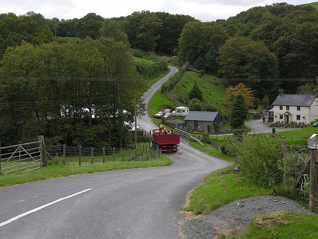 Road heading for Brynllwydwyn