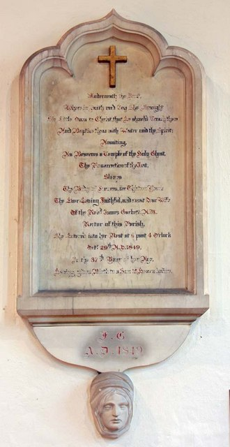 St John the Baptist, Clayton, Sussex - Wall monument