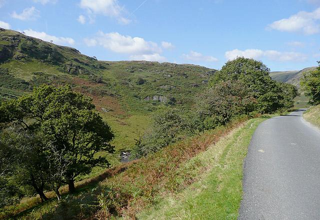 The road in Cwm Irfon, Powys
