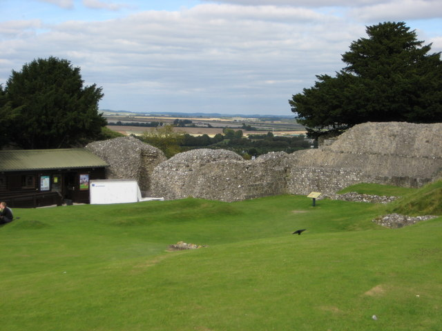 Old Sarum, view NE over the entrance