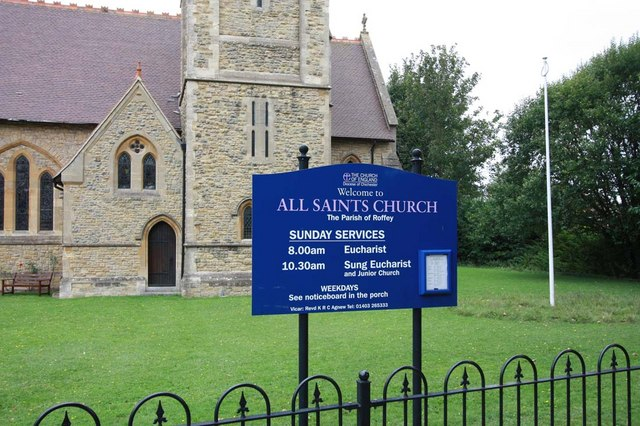 All Saints, Roffey, Sussex - Notice board