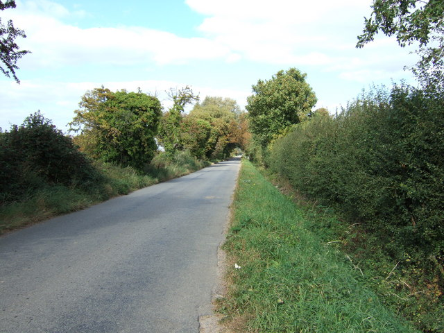 Looking north along Rhoon Road near Rhoon Farm