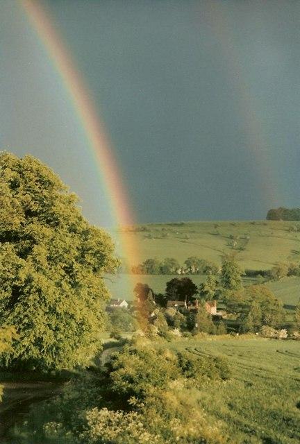 Rainbows over Colesbourne