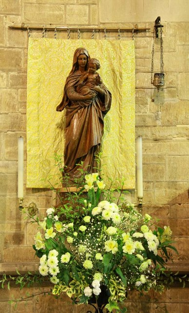 All Saints, Roffey, Sussex - Statue Madonna & Child