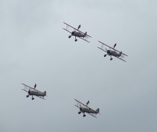Stunt flying over Rendcomb Airfield