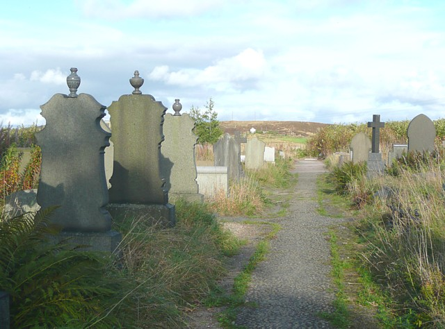 Graveyard at Pole Moor, Scammonden