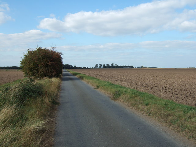 Lane leading to Balaclava Farm, Terrington Marsh
