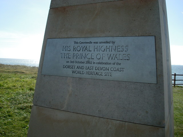 Plaque on the Geoneedle, Exmouth