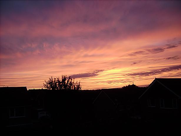 Sunrise over Burncross