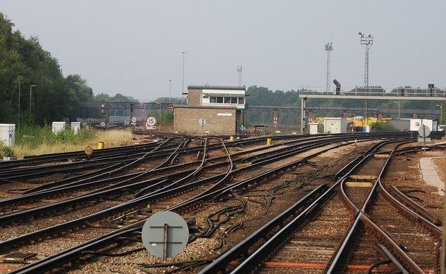Railway junction at Tonbridge