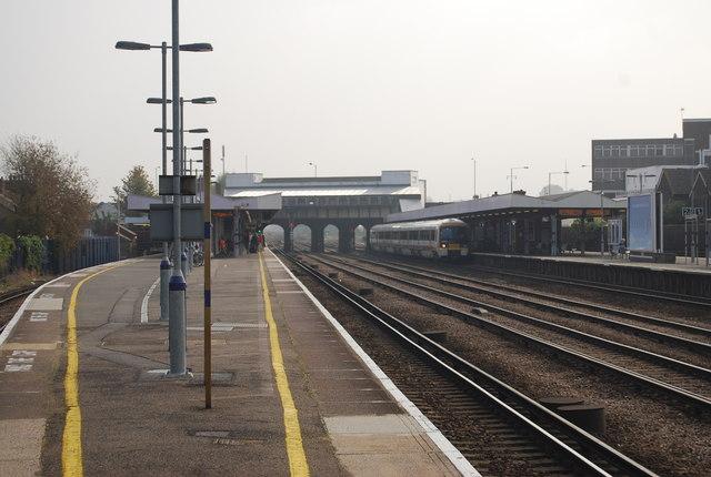 Tonbridge Station from the end of platform 4