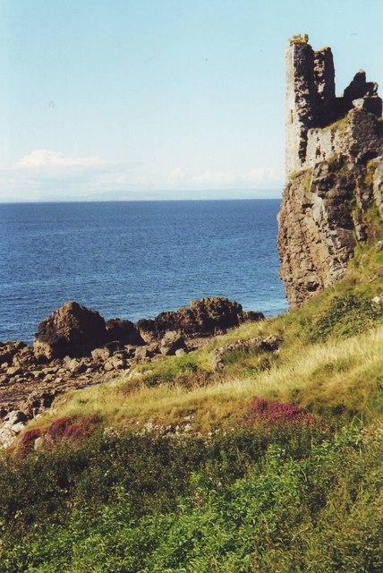 Ruins of Dunure Castle near Ayr