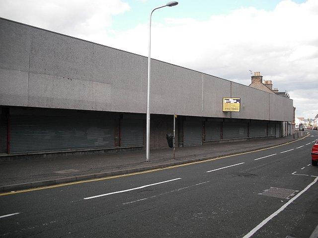 Empty supermarket, Methil