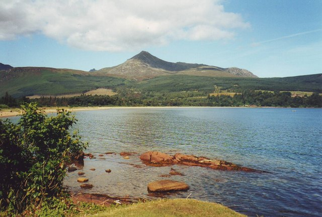 Brodick Bay with Goatfell in background
