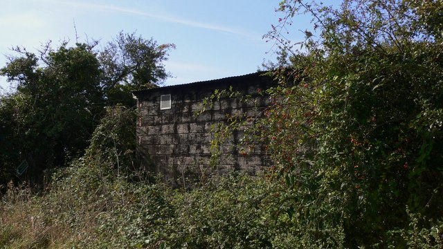 Barn at field corner