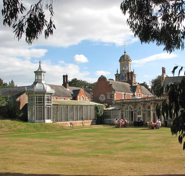 Somerleyton Hall - view towards the aviary