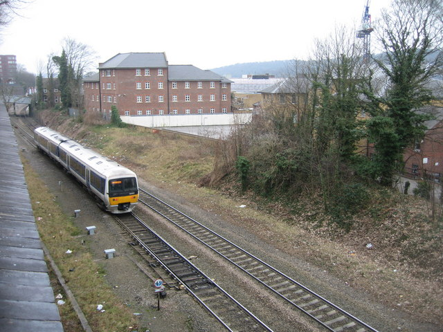Approaching High Wycombe station
