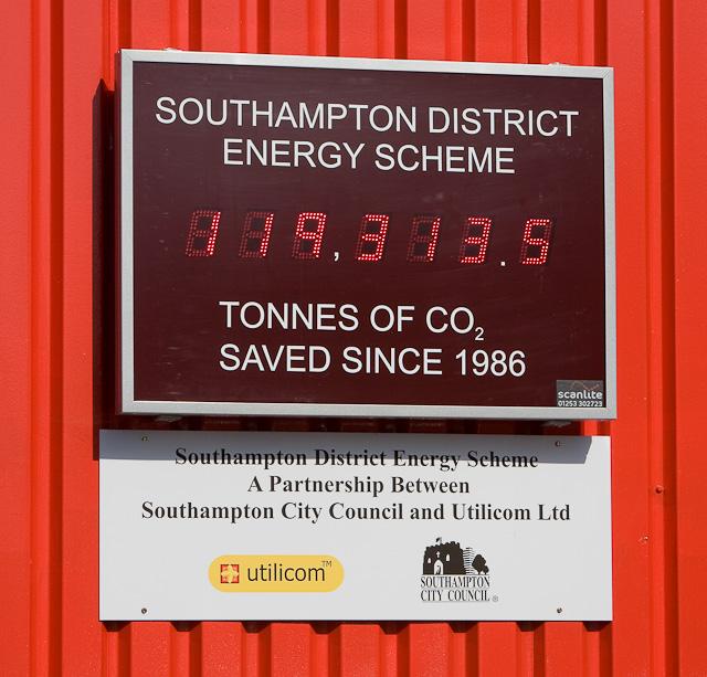 CO2 saved by Southampton District Energy Scheme
