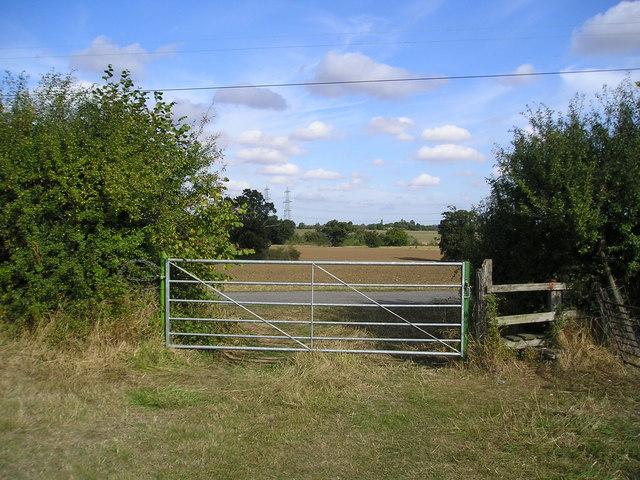 Gate and Stile near Elm Tree Farm